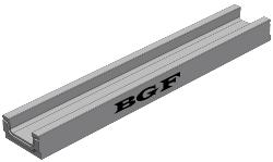 Типовой бетонный лоток BGF