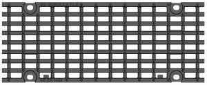 Решетка для лотка BGU-Z DN150, № 10-0, кл. E