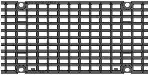 Решетка для лотка BGU-Z DN200 H230, кл. E