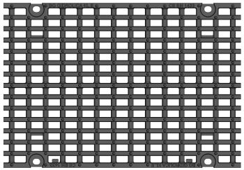 Решетка для лотка BGZ-S DN300 №10-0, кл. E