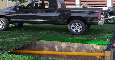 Устройство газонной решетки