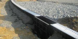 Водоотводные каналы пластиковые с пескоуловителем