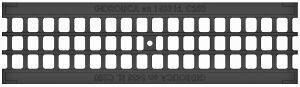 Решетка чугунная ячеистая для лотка из бетона